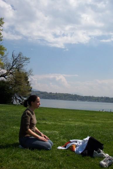 Meditazione nel parco