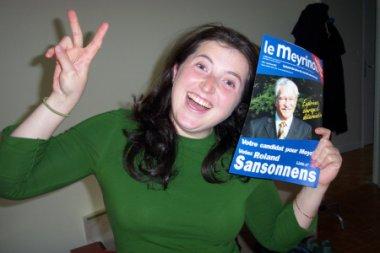 Verena fa propaganda elettorale