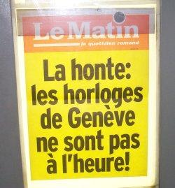 La onta: li orologi di Ginevra: non sono precisi!