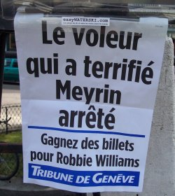 Il ladro che ha terrorizzato Meyrin arrestato